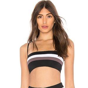 Rebel stripe bikini top